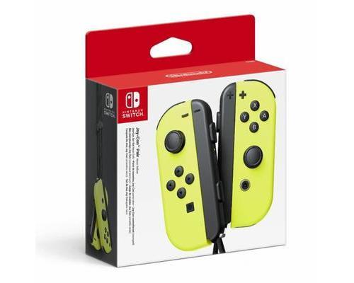 Paire de manettes Nintendo Switch Joy Con Jaune Fluo
