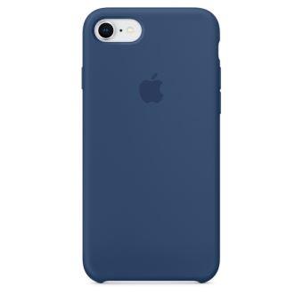 Coque en silicone Apple Bleu cobalt pour iPhone 7 et 8