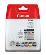 Pack de 5 cartouches d'encre Canon PGI580XL/CLI581