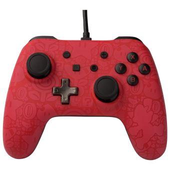 Manette filaire Nintendo Switch Plus Super Mario Rouge et noire