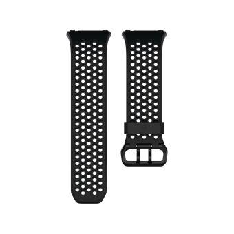 Bracelet Sport Fitbit Perforé Noir et charbon pour Ionic Taille S