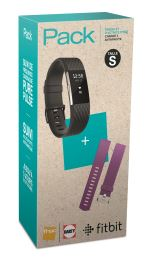 Pack Fnac Coach de vie Fitbit Charge 2 Anthracite Taille S + Bracelet GunMetal Prune Taille S