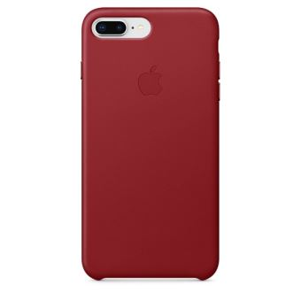 APPLE IPHONE 8+ / 7+ LEATHER CASE RED