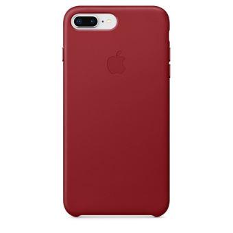 Coque en cuir Apple Rouge pour iPhone 7 Plus et 8 Plus