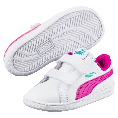 <strong>Chaussures</strong> enfant puma smash fun blanches et roses taille 21
