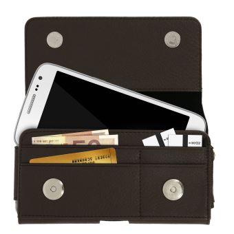 la meilleure attitude 5a398 68c1e Housse ceinture avec interieur porte-cartes smartphone jusqu'à 4.7 pouces -  Noir