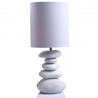 Blanc À Poser Galets Céramique Achat Lampe Ovale rCWdxoeB