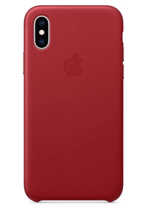 Coque en cuir Apple Rouge pour iPhone XS