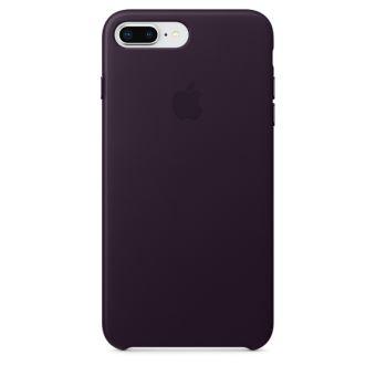 Coque en cuir Apple Aubergine pour iPhone 7 Plus et 8 Plus