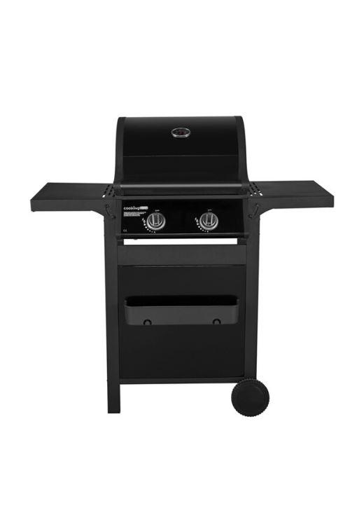 Barbecue à gaz CookingBox PB1-202 6300 W Noir
