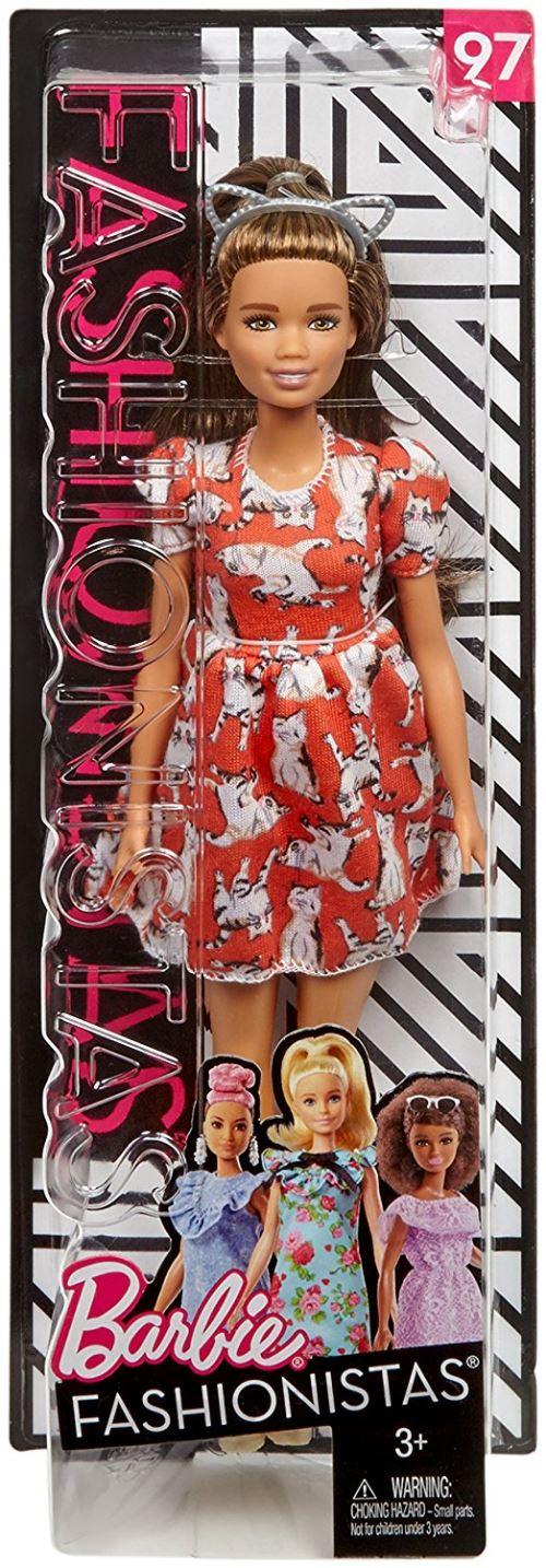 Chaque poupée Barbie Fashionistas possède son propre style et un look unique: de robes camouflages féminines aux imprimés arc-en-ciel pailletés, toutes les tenues sinspirent des dernières tendances! Collectionnez-les toutes pour explorer les possibilité