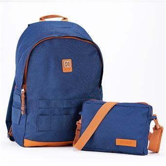 Sac à dos personnalisable et modulable Kuts Ollie 19 L Bleu et Marron