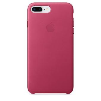 Coque en cuir Apple Fuchsia pour iPhone 7 Plus et 8 Plus