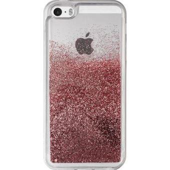 Coque Puro Sand Pailletee Rose dore pour iPhone 5 5s et SE