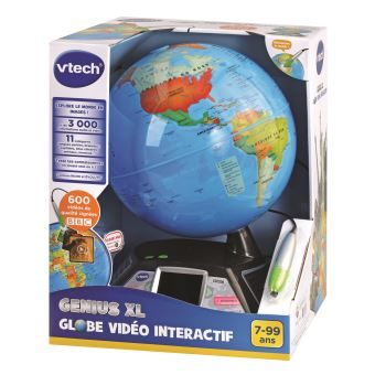 Jeu scientifique Vtech Genius XL Globe vidéo intéractif - Jeu scientifique - Achat & prix | fnac