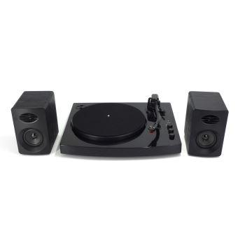 Platine vinyle Bluetooth DEA Noire avec 2 Enceintes haute performance