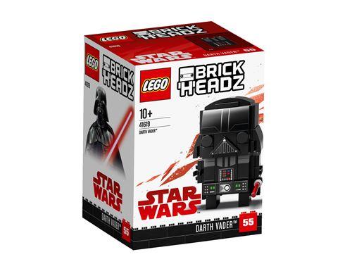 Construis ta propre version LEGO® BrickHeadz de Dark Vador 41619, tel quil apparaît dans le film à succès Star Wars : Épisode V LEmpire contre-attaque. Découvre ses yeux décorés, son casque emblématique, son sabre laser, sa cape et sa tenue avec armure de