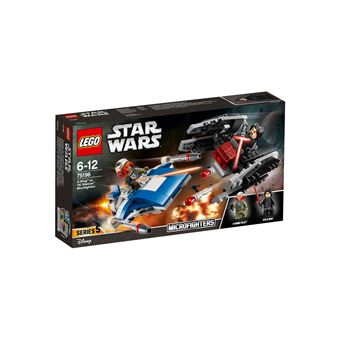 LEGO 75196 A-WING VS. TIE SILENCER MICROFIGHTERS