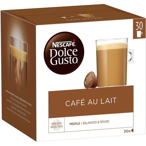 Boîte de 30 capsules NESCAFÉ® Dolce Gusto® Café au lait