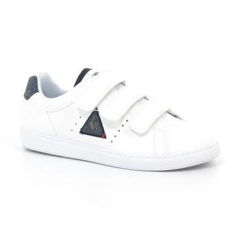 a7cbfa9a8c09e Chaussures Enfant Le coq sportif Courtone PS S Lea Blanches Taille ...