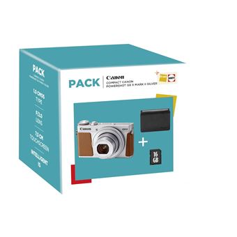 CANON G9X MII SILVER COMPACT CAMERA + SD 16GB + CASE (PF)