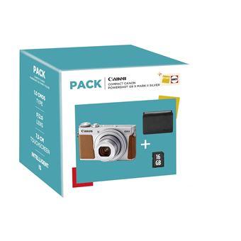 Compact Canon PowerShot G9 X Mark II Argent + Etui + Carte SD 16 Go