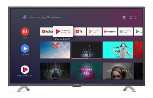 """TV Sharp 50BL5EA 4K UHD Smart TV 50"""""""""""""""" Gris foncé - Téléviseur LCD 44"""" à 55""""."""