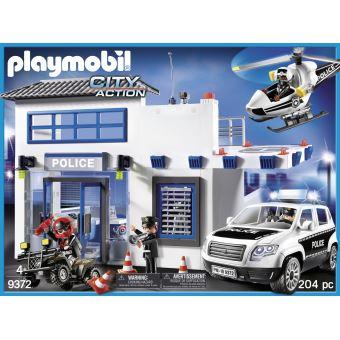 Playmobil City Action 9372 Poste de police et véhicule