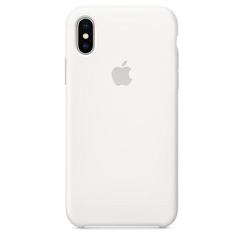 Coque en silicone Apple Blanche pour iPhone X