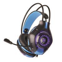 Micro-casque Gaming Rétro-éclairé Alpha Omega Players Dragon C29 Noir et bleu pour PC, PS4, Xbox One et Nintendo Switch