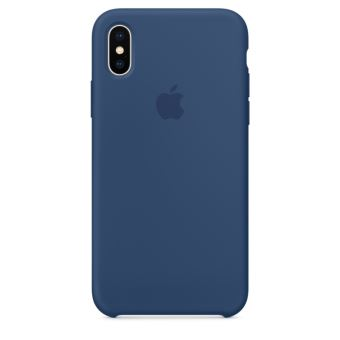 Coque en silicone Apple Bleu de cobalt pour iPhone X