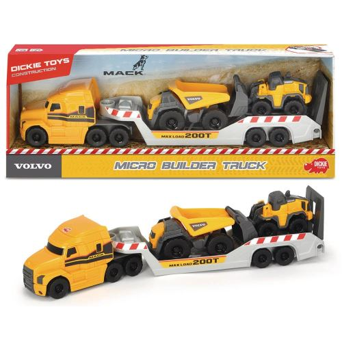 Camion Dickie Toys Volvo et 2 véhicules Volvo