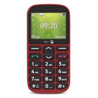 Téléphone mobile Doro 1360 Double SIM Rouge