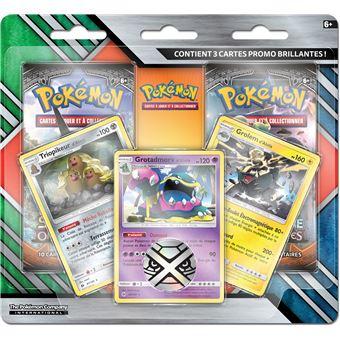 carte pokemon lune et soleil Coffret 3 cartes et 2 boosters Pokémon Soleil et Lune   Jeu de
