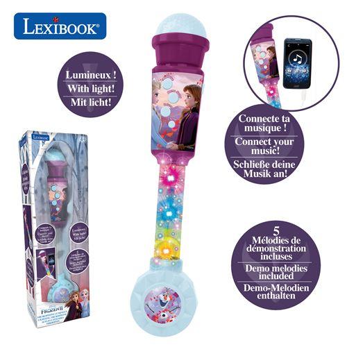 Jouet multimédia Lexibook Micro Lumineux Disney La Reine des Neiges 2 avec enceinte entrée auxiliaire