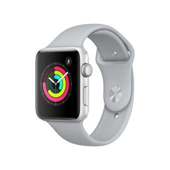 Apple Watch Series 3 42 mm Boîtier en Aluminium Argent avec Bracelet Sport Nuage