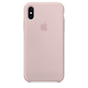 Coque en silicone Apple Rose des sables pour iPhone X