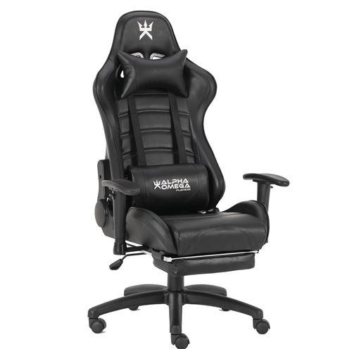 Chaise de bureau gaming Alpha Omega Players Impérium Noir