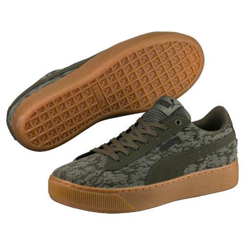 Chaussures Femme Puma Vikky Platform Vert kaki Taille 39