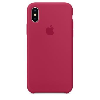 APPLE IPHONE X SILICONE CASE ROSE RED