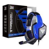 Micro-casque stéréo Two Dots Tornado 2.0 Bleu pour PS4, Xbox One et Nintendo Switch