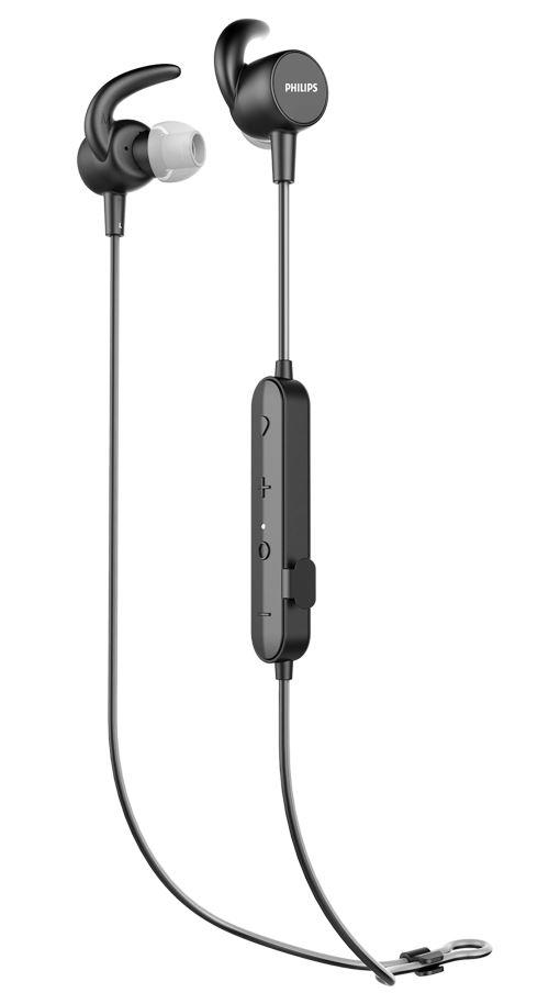 Ecouteurs intra-auriculaires de sport Philips sans fil Noir