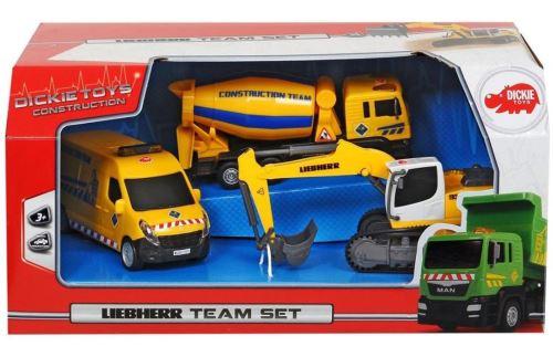 Coffret 3 véhicules de chantier Dickie Toys Modèle aléatoire