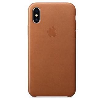 Coque en cuir Apple Havane pour iPhone X