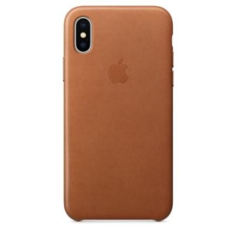 APPLE IPHONE X LEATHER CASE SADDLE BROWN