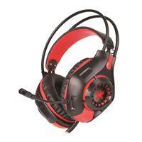 Micro-casque Gaming Rétro-éclairé Alpha Omega Players Dragon C29 Noir et rouge pour PC, PS4, Xbox One et Nintendo Switch