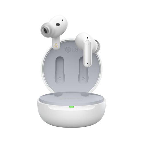 Ecouteurs à réduction de bruit sans fil Bluetooth LG Tone Free FP5 True wireless Blanc