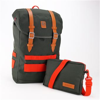 Sac à dos personnalisable et modulable Kuts Freeman 20 L Vert kaki et Orange