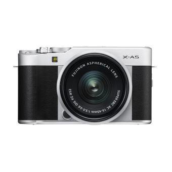 Kit Fujifilm X-A5 Hybride Kit Zilver met XC 15-45 mm PZ Lens Zilver
