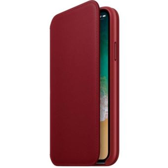 APPLE IPHONE X LEATHER FOLIO RED